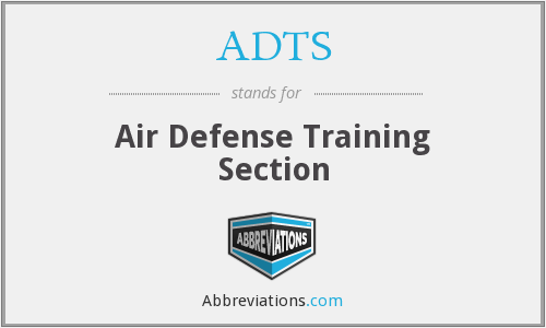 ADTS - Air Defense Training Section