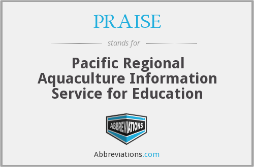 PRAISE - Pacific Regional Aquaculture Information Service for Education