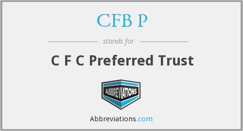 What does CFB P stand for?
