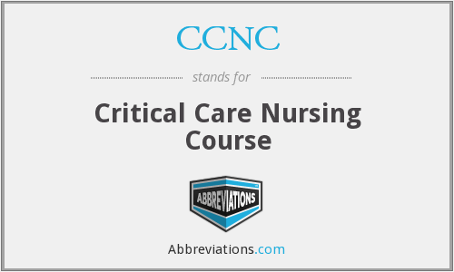 CCNC - Critical Care Nursing Course