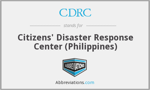 CDRC - Citizens' Disaster Response Center (Philippines)