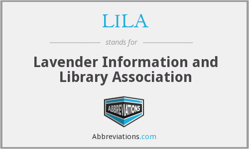 LILA - Lavender Information And Library Association