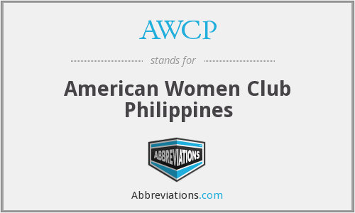 AWCP - American Women Club Philippines