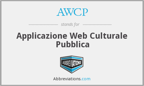 AWCP - Applicazione Web Culturale Pubblica