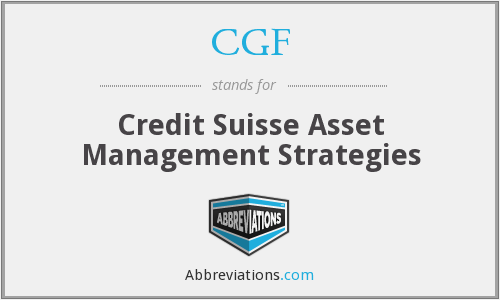 CGF - Credit Suisse Asset Management Strategies