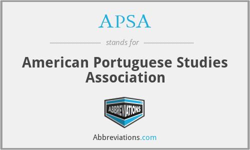 APSA - American Portuguese Studies Association