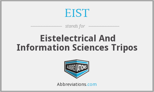 What does EIST stand for?
