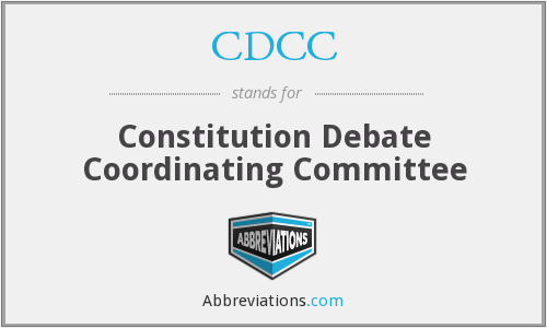 CDCC - Constitution Debate Coordinating Committee