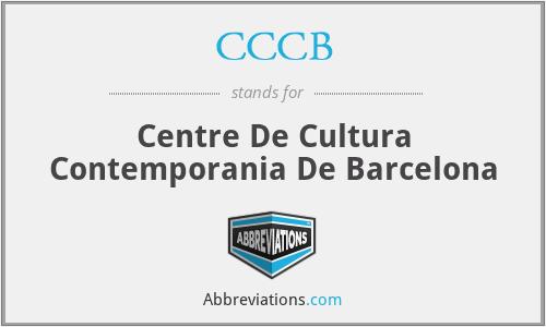 CCCB - Centre De Cultura Contemporania De Barcelona