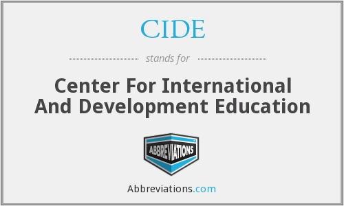 CIDE - Center For International And Development Education