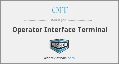 OIT - Operator Interface Terminal
