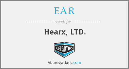 EAR - Hearx, LTD.
