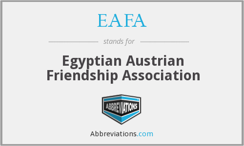 EAFA - Egyptian Austrian Friendship Association