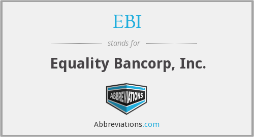 EBI - Equality Bancorp, Inc.