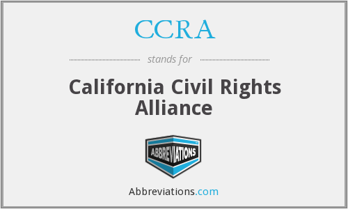 CCRA - California Civil Rights Alliance