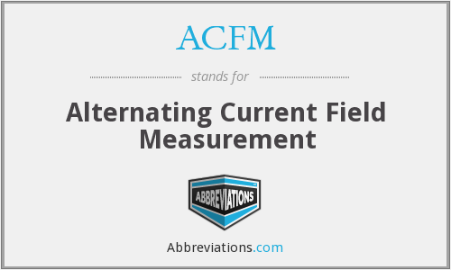 ACFM - Alternating Current Field Measurement
