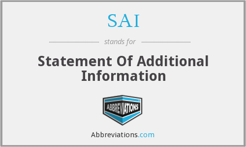 SAI - Statement Of Additional Information