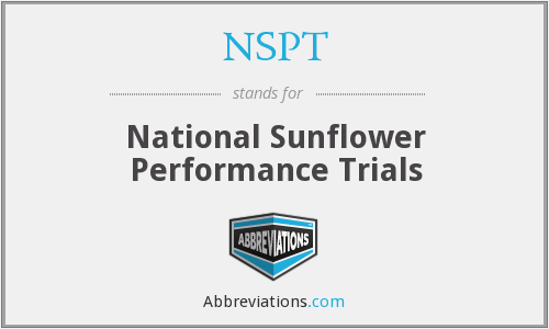 NSPT - National Sunflower Performance Trials