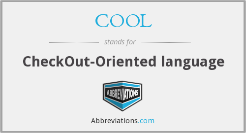 COOL - CheckOut-Oriented language