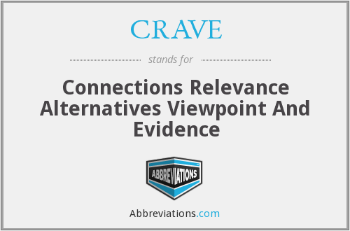 CRAVE - Connections Relevance Alternatives Viewpoint And Evidence