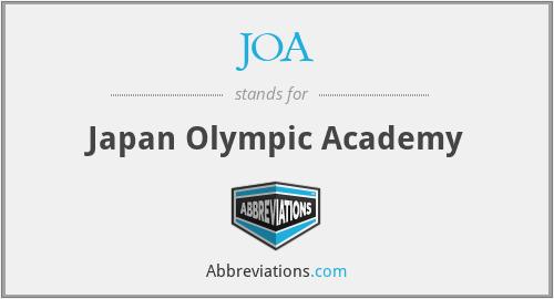 JOA - Japan Olympic Academy