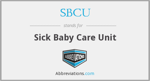 SBCU - Sick Baby Care Unit