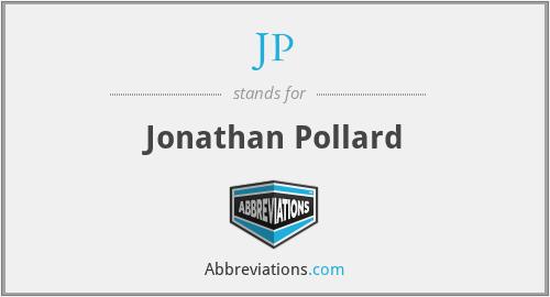 JP - Jonathan Pollard