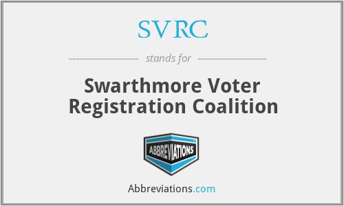 SVRC - Swarthmore Voter Registration Coalition