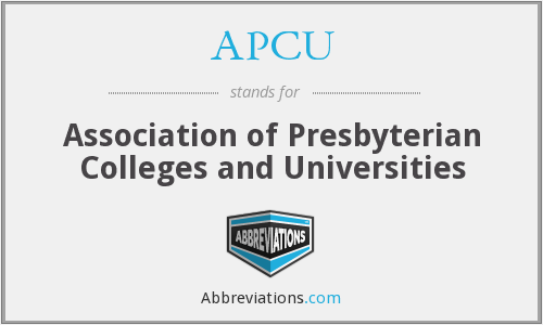 APCU - Association of Presbyterian Colleges and Universities