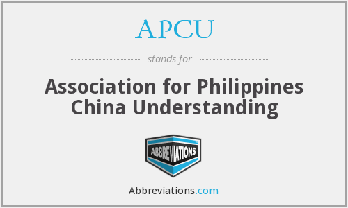 APCU - Association for Philippines China Understanding