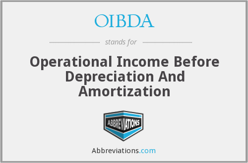 OIBDA - Operational Income Before Depreciation And Amortization