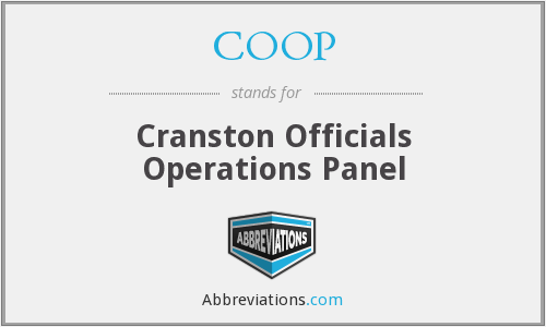 COOP - Cranston Officials Operations Panel