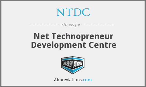 NTDC - Net Technopreneur Development Centre