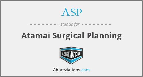 ASP - Atamai Surgical Planning