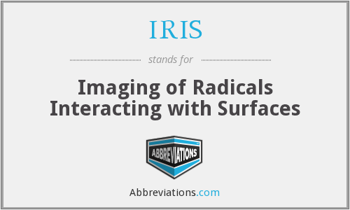 IRIS - Imaging of Radicals Interacting with Surfaces