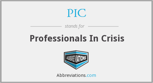 PIC - Professionals In Crisis