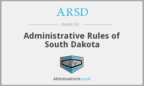 ARSD - Administrative Rules of South Dakota