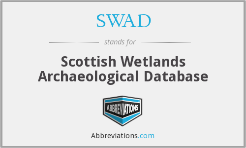 SWAD - Scottish Wetlands Archaeological Database