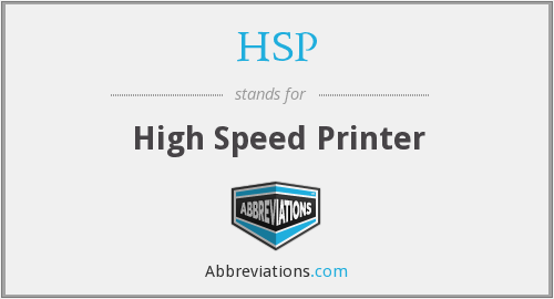 HSP - High Speed Printer
