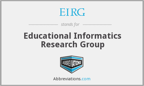 EIRG - Educational Informatics Research Group