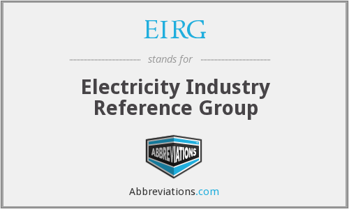 EIRG - Electricity Industry Reference Group