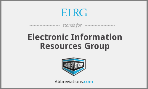 EIRG - Electronic Information Resources Group