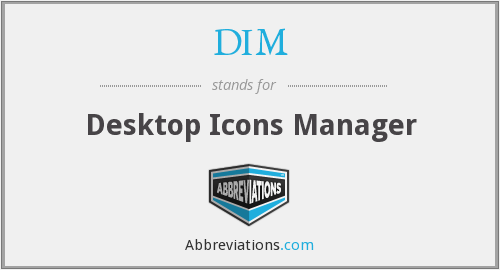 DIM - Desktop Icons Manager