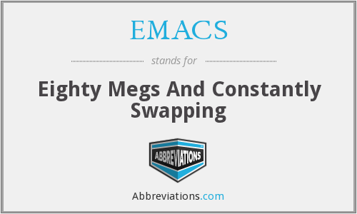 EMACS - Eighty Megs And Constantly Swapping