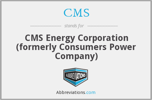 CMS - CMS Energy Corporation (formerly Consumers Power Company)