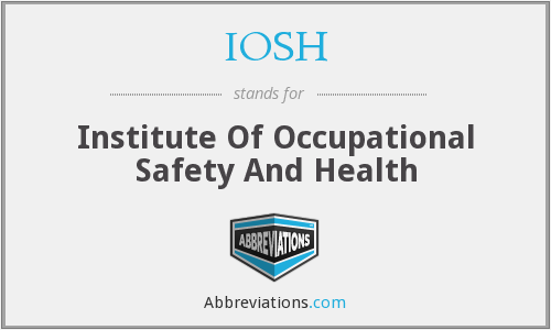 What does IOSH stand for?