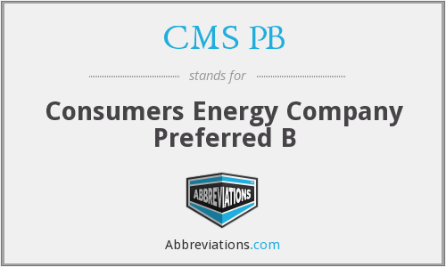 What does CMS PB stand for?