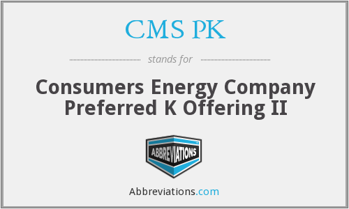 What does CMS PK stand for?