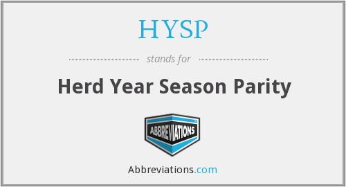 HYSP - Herd Year Season Parity