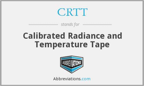 CRTT - Calibrated Radiance and Temperature Tape